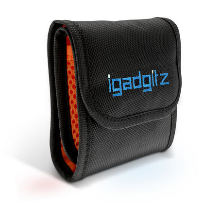 iGadgitz 3 Pocket Slot Bag Pouch Holder Storage Case for SLR DSLR Camera Lens Filters Thumbnail 2