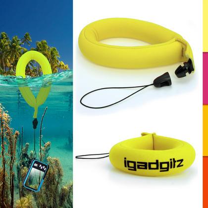 iGadgitz Floating Wrist Strap Suitable for Underwater/Waterproof: Cameras, Marine Binoculars + Waterproof Mobile Phones Thumbnail 1