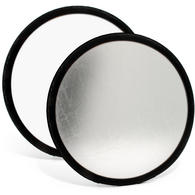 "iGadgitz 30cm (12"") 2-in-1 Collapsible Round Disc Studio Light Reflector with Carrying Case ? Silver & White"