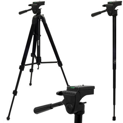 """iGadgitz 150cm (59"""") Extendable 2 in 1 Combined Aluminium Tripod and Monopod Stand for Camera and Camcorders ? Black Thumbnail 1"""