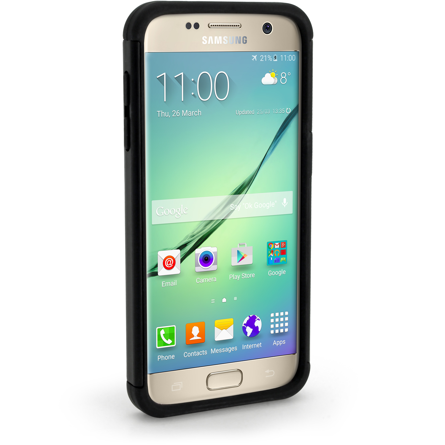igadgitz hard pc back shell cover silicone bumper case for samsung galaxy s7 sm g930 screen. Black Bedroom Furniture Sets. Home Design Ideas
