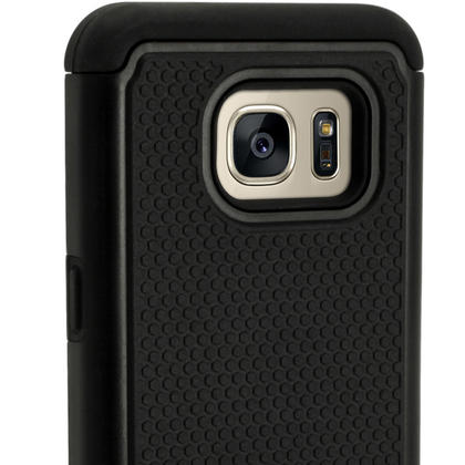 iGadgitz Hard PC Back Shell Cover & Silicone Bumper Case for Samsung Galaxy S7 SM-G930 + Screen Protector Thumbnail 4
