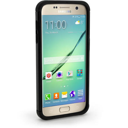 iGadgitz Hard PC Back Shell Cover & Silicone Bumper Case for Samsung Galaxy S7 SM-G930 + Screen Protector Thumbnail 3