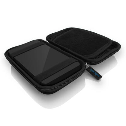iGadgitz Black EVA Hard Travel Case Cover for Portable External Hard Drives (Internal Dimensions: 142 x 80.6 x 21.6mm) Thumbnail 2