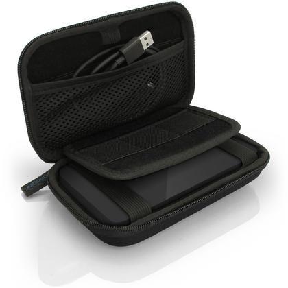 iGadgitz Black EVA Hard Travel Case Cover for Portable External Hard Drives (Internal Dimensions: 142 x 80.6 x 21.6mm) Thumbnail 3