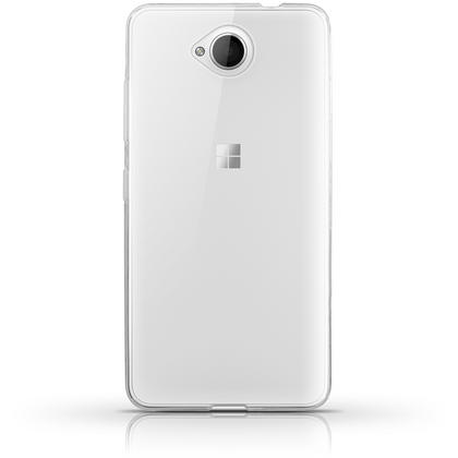 iGadgitz Transparent Clear Glossy TPU Gel Skin Case Cover for Microsoft Lumia 650 + Screen Protector Thumbnail 3