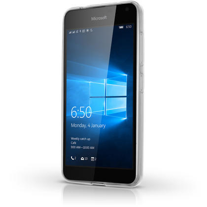 iGadgitz Transparent Clear Glossy TPU Gel Skin Case Cover for Microsoft Lumia 650 + Screen Protector Thumbnail 4