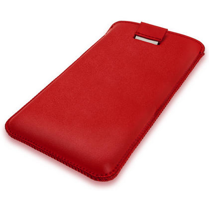 iGadgitz Red Leather Pouch Sleeve Case Cover for Sony Xperia Z3 D6603 & Sony Xperia Z3+ E6553 Thumbnail 5
