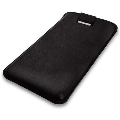 iGadgitz Black Leather Pouch Sleeve Case Cover for LG G4C H525N Thumbnail 5