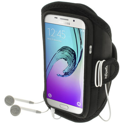 iGadgitz Water Resistant Running Jogging Gym Sports Armband for Samsung Galaxy A5 SM-A510 (2016) Thumbnail 1