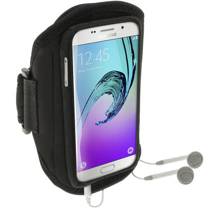 iGadgitz Water Resistant Running Jogging Gym Sports Armband for Samsung Galaxy A5 SM-A510 (2016) Thumbnail 2