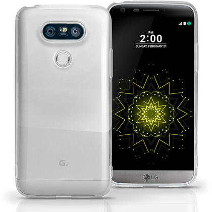 iGadgitz Glossy TPU Gel Skin Case Cover for LG G5 H850 (2016) + Screen Protector Thumbnail 1
