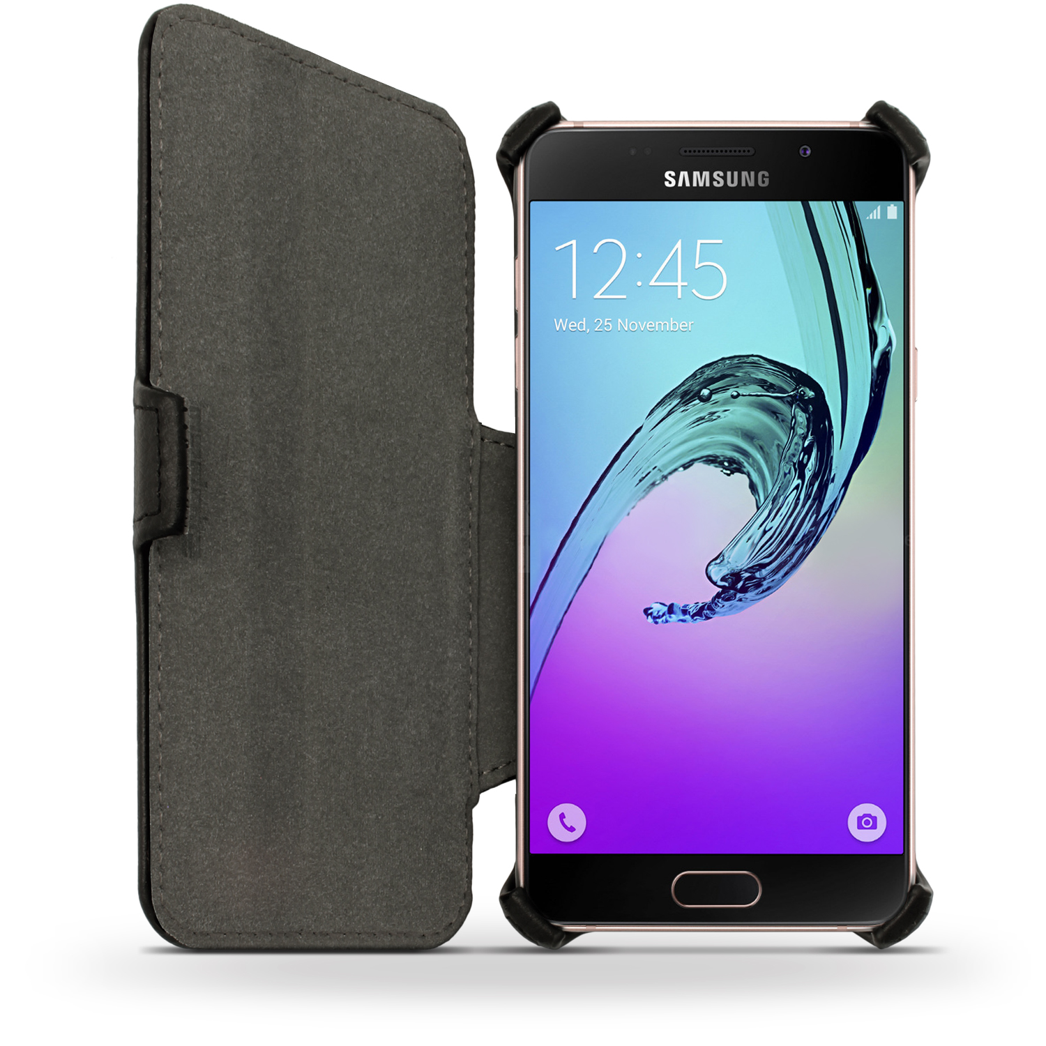 more photos 9fa19 3bd8b Details about PU Leather Flip Case for Samsung Galaxy A3 SM-A310 (2016)  Stand Book Folio Cover