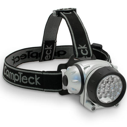 CampTeck Lunar 18 Super Bright 18 White LED Headlamp Headlight, 2 Red LED - 4 Light Modes Thumbnail 1