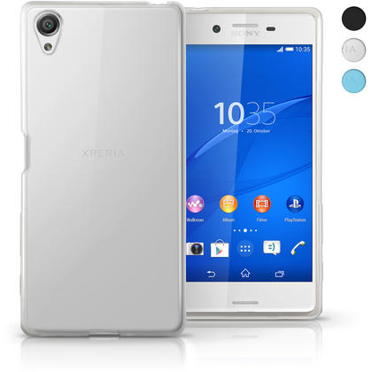 iGadgitz Glossy TPU Gel Skin Case Cover for Sony Xperia X F5121 + Screen Protector Thumbnail 1