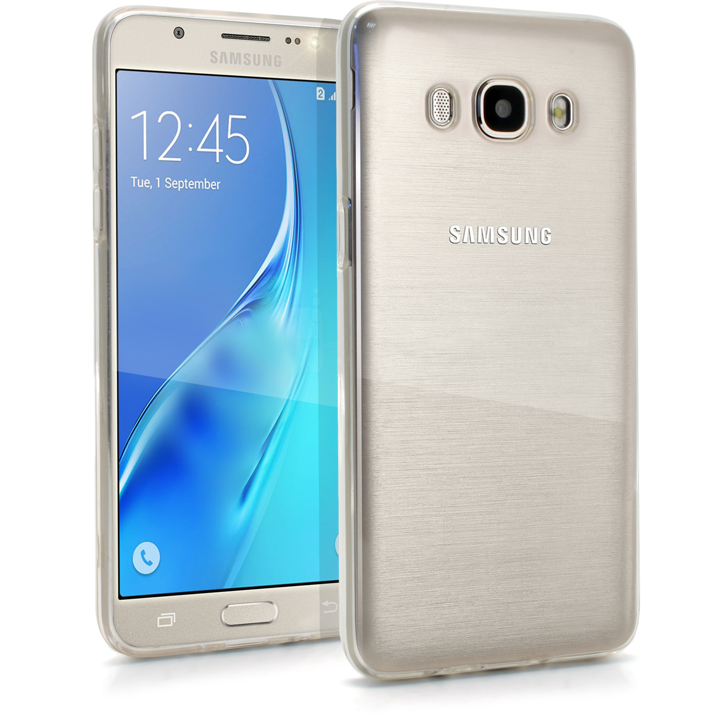 iGadgitz Glossy TPU Gel Skin Case Cover for Samsung Galaxy J5 J510FN (2016) + Screen Protector