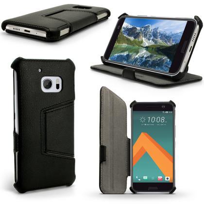 iGadgitz Premium Folio PU Leather Case Cover for HTC 10 (2016) with Stand + Screen Protector Thumbnail 1
