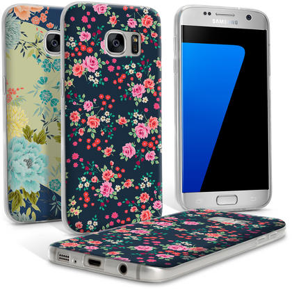 "iGadgitz ""Designer Collection"" Glossy TPU Gel Skin Case Cover for Samsung Galaxy S7 SM-G930 Thumbnail 1"