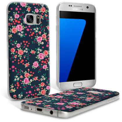 "iGadgitz ""Designer Collection"" Glossy TPU Gel Skin Case Cover for Samsung Galaxy S7 SM-G930 Thumbnail 2"