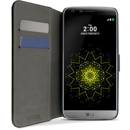 iGadgitz Premium Wallet Flip PU Leather Case Cover for LG G5 H850 H840 (2016) With Stand + Card Slots + Screen Protector Thumbnail 3