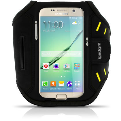 iGadgitz Water Resistant Lightweight Neoprene Sports Jogging Gym Armband for Samsung Galaxy S7 SM-G930 with Key Slot Thumbnail 1