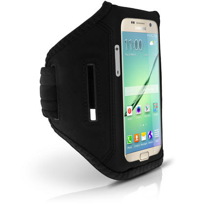 iGadgitz Water Resistant Lightweight Neoprene Sports Jogging Gym Armband for Samsung Galaxy S7 SM-G930 with Key Slot Thumbnail 2