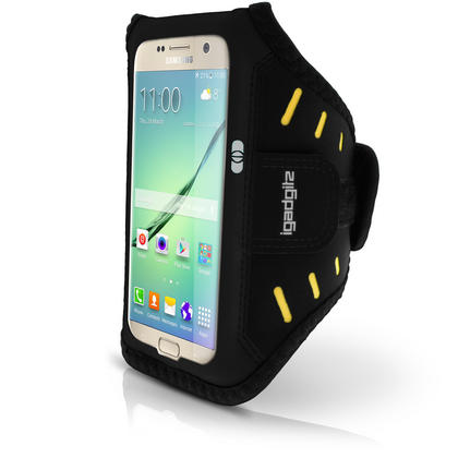 iGadgitz Water Resistant Lightweight Neoprene Sports Jogging Gym Armband for Samsung Galaxy S7 SM-G930 with Key Slot Thumbnail 3