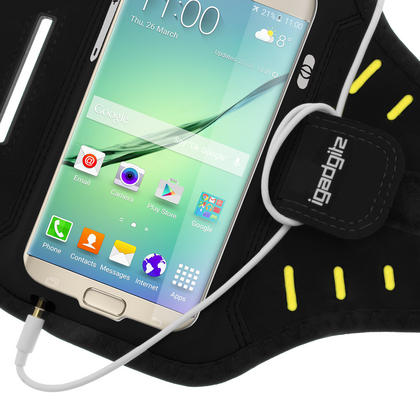 iGadgitz Water Resistant Lightweight Neoprene Sports Jogging Gym Armband for Samsung Galaxy S7 SM-G930 with Key Slot Thumbnail 4