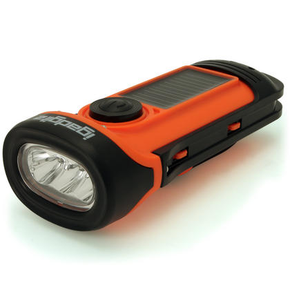 iGadgitz Xtra 5m Waterproof Eco Rechargeable Solar & Hand Crank LED Torch Flashlight with 5 Year Warranty Thumbnail 6