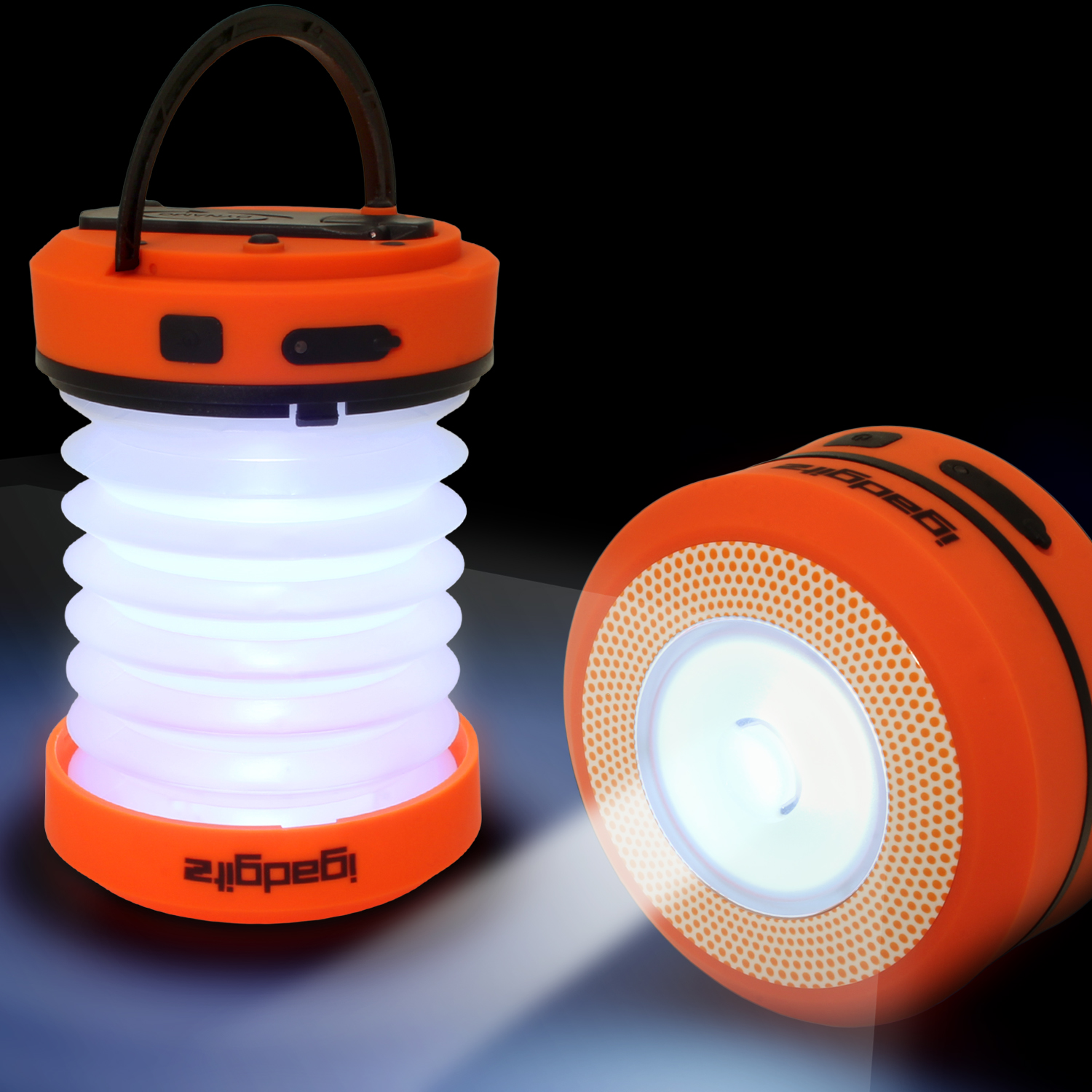 iGadgitz Xtra Lumin Eco Dynamo Rechargeable Pop Up Collapsible LED Lantern & Torch + Emergency Charger + 3 Year Warranty