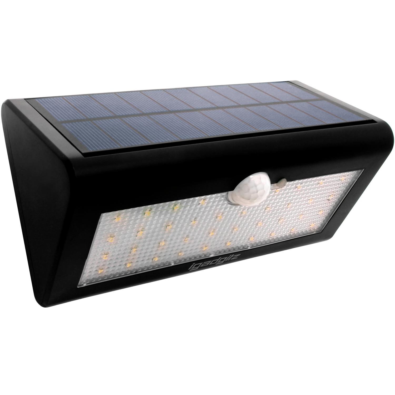 iGadgitz U4686 - 38 LED 600 Lumens Solar PIR Motion Sensor Lights Solar Energy Powered Waterproof Security Light