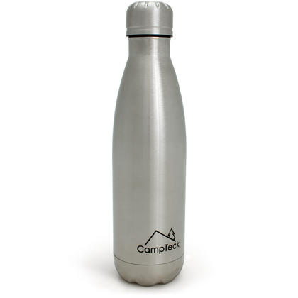 CampTeck 500ml Insulated Stainless Steel Water Bottle Double Walled Vacuum Drinks Sports Bottle - Silver Thumbnail 7