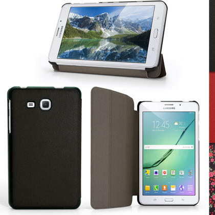 """iGadgitz PU Leather Smart Cover Case for Samsung Galaxy Tab A 7"""" T280 T285 (2016) with Stand + Screen Protector Thumbnail 1"""