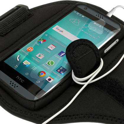 iGadgitz Water Resistant Running Jogging Gym Sports Armband for HTC Desire 530 Thumbnail 4