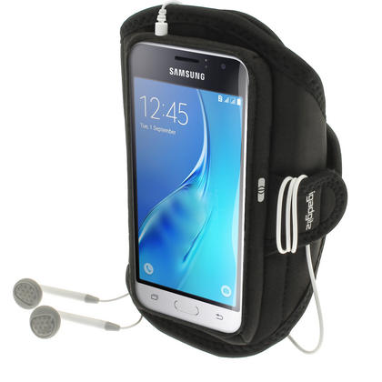 iGadgitz Water Resistant Running Jogging Gym Sports Armband for Samsung Galaxy J1 J120 (2016) Thumbnail 1