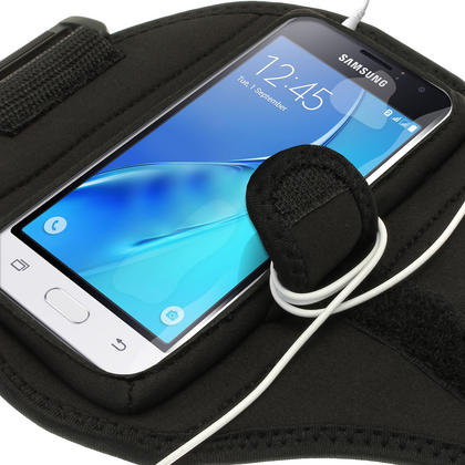 iGadgitz Water Resistant Running Jogging Gym Sports Armband for Samsung Galaxy J1 J120 (2016) Thumbnail 4