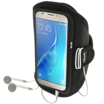 iGadgitz Water Resistant Running Jogging Gym Sports Armband for Samsung Galaxy J5 J510 (2016) Thumbnail 1