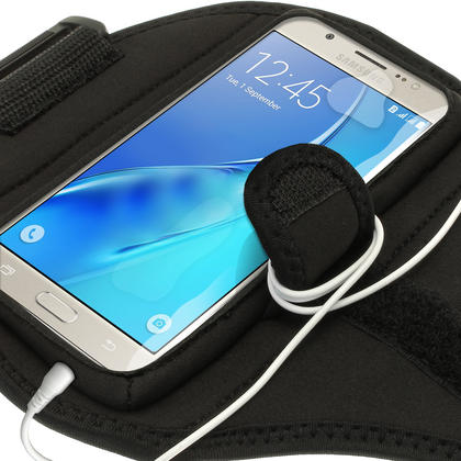 iGadgitz Water Resistant Running Jogging Gym Sports Armband for Samsung Galaxy J5 J510 (2016) Thumbnail 4
