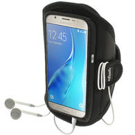 iGadgitz Water Resistant Running Jogging Gym Sports Armband for Samsung Galaxy J5 J510 (2016)
