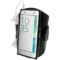 iGadgitz Water Resistant Black Sports Jogging Gym Armband for Sony Xperia XA F3111 (2016)