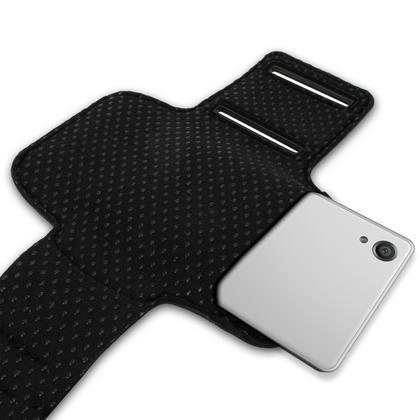iGadgitz Reflective Anti-Slip Pink Sports Jogging Gym Armband for Sony Xperia XA F3111 with Key Slot Thumbnail 4
