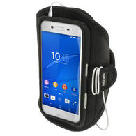 iGadgitz Water Resistant Black Sports Jogging Gym Armband for Sony Xperia X F5121 (2016)