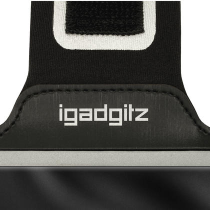 iGadgitz Reflective Anti-Slip Black Sports Jogging Gym Armband for Sony Xperia X F5121 (2016) with Key Slot Thumbnail 7