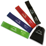 CampTeck Set of 4 Latex Resistant Loop Bands for Gym Home Fitness Workout, Yoga, Pilates, Strength Injury Rehabilitation
