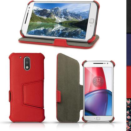 iGadgitz PU Leather Case Cover for Motorola Moto G 4th Generation XT1622 (Moto G4) & Moto G4 Plus XT1644 + Screen Prot Thumbnail 3