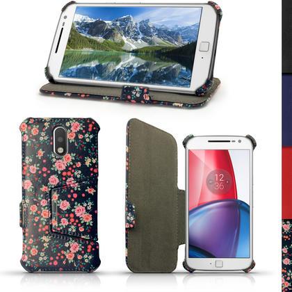iGadgitz PU Leather Case Cover for Motorola Moto G 4th Generation XT1622 (Moto G4) & Moto G4 Plus XT1644 + Screen Prot Thumbnail 4