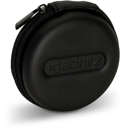 iGadgitz Black EVA Zipper Carrying Hard Case for Earphones (Apple, JVC, Sony, Philips, Senheisser,  Beats, Bose, etc.) Thumbnail 2