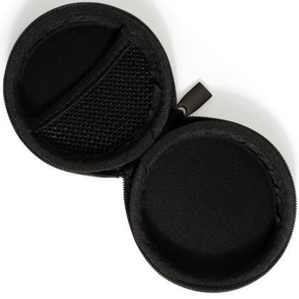 iGadgitz Black EVA Zipper Carrying Hard Case for Earphones (Apple, JVC, Sony, Philips, Senheisser,  Beats, Bose, etc.) Thumbnail 4