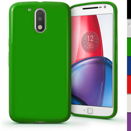 iGadgitz Glossy TPU Gel Skin Case Cover for Motorola Moto G 4th Gen XT1622 (Moto G4) & G4 Plus XT1644 + Screen Protector Thumbnail 4