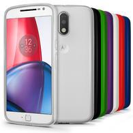 iGadgitz Glossy TPU Gel Skin Case Cover for Motorola Moto G 4th Gen XT1622 (Moto G4) & G4 Plus XT1644 + Screen Protector